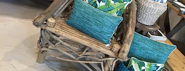 Driftwood beach chair